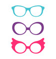 spectacles accessory collection vector image vector image