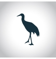 Stork simple icon vector image vector image