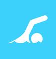 swimming sport figure symbol graphic vector image