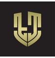 tc logo monogram with emblem shield shape design vector image vector image