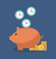 Time is money concept Flat design Isolated on vector image vector image