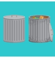 Trash cans two icon xxl vector image