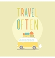 travel often van with a lot luggage vector image vector image