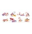various sunbathing people on summer beach vacation vector image vector image