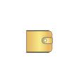 Wallet computer symbol vector image vector image