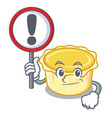 with sign egg tart character cartoon vector image