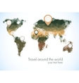 World map in polygonal style vector image vector image