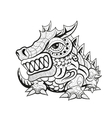 Zentangle tribal dragon designs vector image vector image
