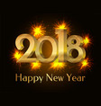 2018 happy new year poster vector image