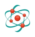 molecular structure isolated icon design vector image