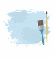 paint brush and blue stain vector image