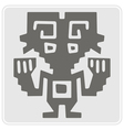 monochrome icon with Peruvian Indians art vector image