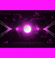 abstract technology ui futuristic concept hud vector image vector image