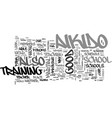 aikido school text word cloud concept vector image vector image
