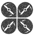 Airdrone Screws Rotation Grainy Texture Icon vector image vector image