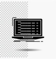 api app coding developer laptop glyph icon on vector image vector image