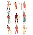 armed native people set american indian african vector image
