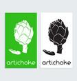 artichoke logo icon template vector image vector image