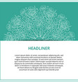 banner set with floral ornament rose vector image vector image