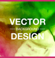 beautiful watercolor background vector image vector image