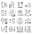 Beauty set line icons art cosmetic spa