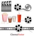 big set cinema objects vector image