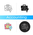 business controlling icon vector image