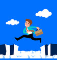 businessman jump vector image vector image
