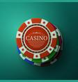 casino chips stack gambler poker chips vector image
