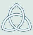celtic trefoil knot vector image vector image