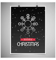 christmas card with dark background and snow vector image vector image