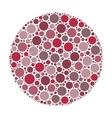 Circle of dots vector image vector image