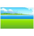 City Skyline Green landscape vector image vector image