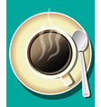 coffee and cup vector image vector image