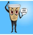 Coffee cup to go vector image vector image