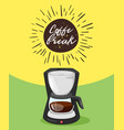 coffee poster template for restaurant vector image vector image
