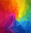 color full spectrum rainbow polygon triangular vector image vector image