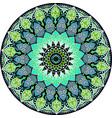 drawing of a floral mandala vector image vector image