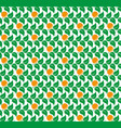 green leaves of trees with orange tangerines vector image