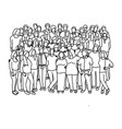 group of businesspeople standing together vector image