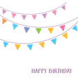 happy birthday card party design vector image vector image