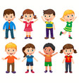 happy children in different positions vector image vector image