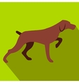 Hunting dog flat icon vector image vector image