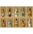 Icons of alcoholic beverages vector image vector image