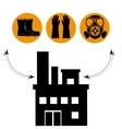 Industrial security equipment vector image vector image