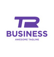 initial letter tr business logo design vector image