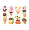 isolated ice cream 3 vector image vector image