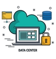 laptop cloud safety isolated vector image
