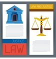 Law and justice horizontal banners in flat design vector image vector image