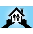 man and pregnant woman in the house vector image
